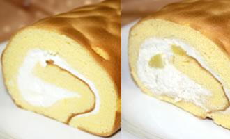 ロールケーキ2本組(たまご×栗)の画像1枚目