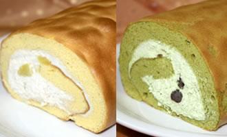 ロールケーキ2本組(栗×抹茶)の画像1枚目