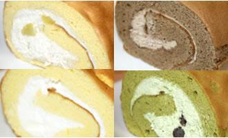 ロールケーキ4本組(栗×チョコ×たまご×抹茶) 12cm×4本