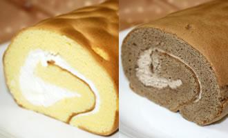 ロールケーキ2本組(たまご×チョコ)
