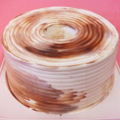 【送料無料】チョコマーブルクリームシフォン 直径18cm