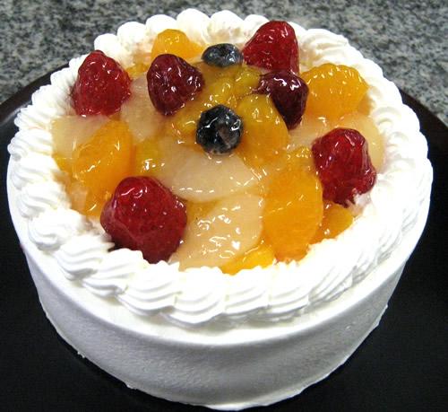 【ナパージュ】フルーツデコレーション4号【誕生日 デコ バースデー ケーキ】