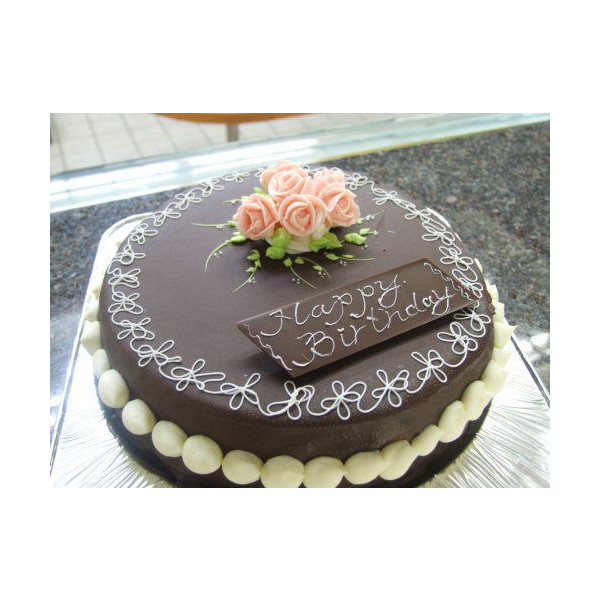 昔懐かしいチョコレートデコレーションケーキ 19cm