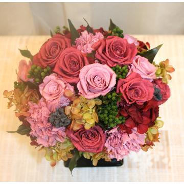 【NEW】プリザーブドフラワー:長くお楽しみいただけるお花です!(赤系)【花 フラワーギフト アレンジメント フラワー 誕生日】[品番:0157]の画像2枚目