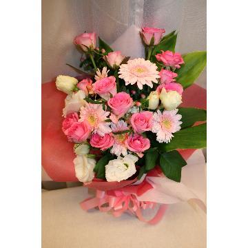 【NEW】花束:華やかなピンクの花束☆【花 フラワーギフト アレンジメント フラワー 誕生日】[品番:0161]の画像2枚目