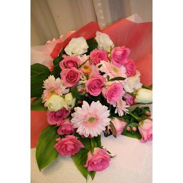 【NEW】花束:華やかなピンクの花束☆【花 フラワーギフト アレンジメント フラワー 誕生日】[品番:0161]の画像3枚目