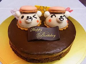 くまの立体ケーキ くま吉ショコラ 5号 15cm