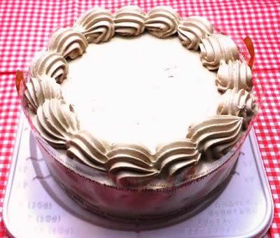 卵・乳製品・小麦粉除去 100%植物性チョコクリーム ホールケーキ 5号 15cm