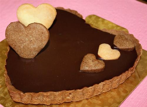 【送料無料】ハートのチョコチーズたると5号(15cm)
