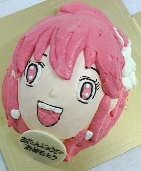 【2016年12月24日配送不可】立体キャラクターケーキプリキュア6号【誕生日 デコ ケーキ バースデー】の画像1枚目