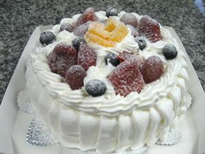 レアチーズケーキ6号(18cm)【バースデーケーキ 誕生日ケーキ デコ バースデー】の画像1枚目