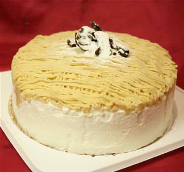 【送料無料】モンブラン4号(直径12cm)【誕生日 熊本産球磨栗 バースデー バースデーケーキ ケーキ モンブラン】の画像1枚目