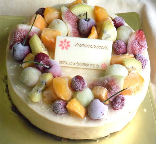 キャラメルアイスケーキ6号(直径18cm)【誕生日 デコ アイスケーキ ケーキ バースデー】