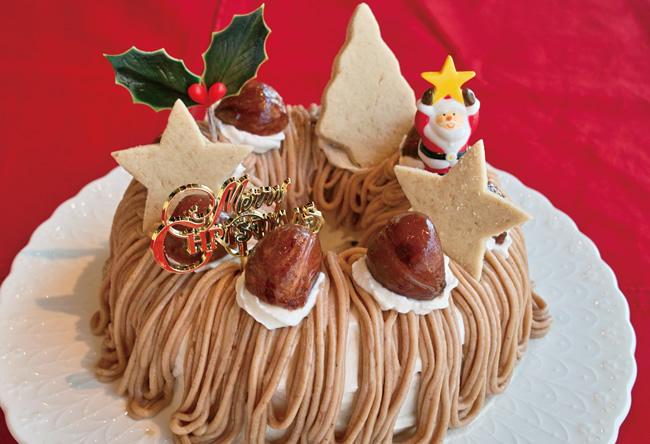【クリスマスケーキ2016 12月18、19日お届け】マロンケーキ 6号(18cm)