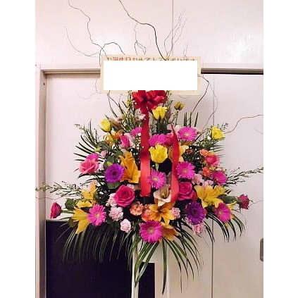 【濃色】 お祝い用スタンド花(1段)