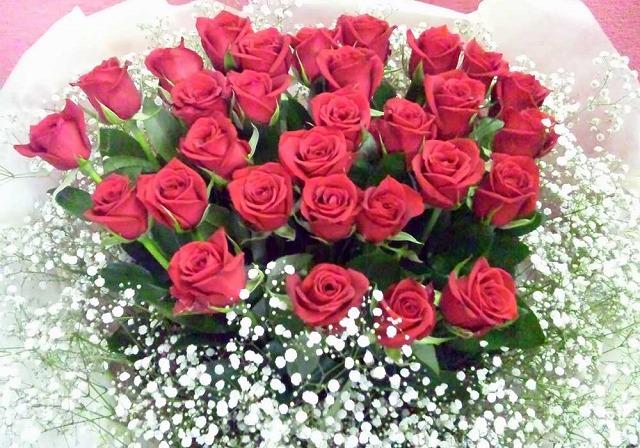 30本の赤バラ【花 フラワーギフト アレンジメント フラワー 誕生日】