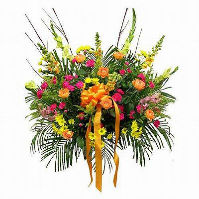 お祝いスタンド【フラワーギフト 贈答 アレンジメント お花 スタンド花 敬老の日】