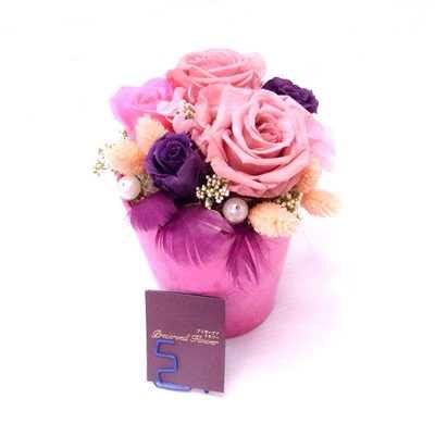 バラとアジサイのプリザーブドフラワー プリ1【母の日 フラワーギフト 贈答 アレンジメント お花 敬老の日】