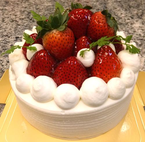 いちごの杜5号(直径15cm)【誕生日 デコ バースデー ケーキ バースデーケーキ】の画像1枚目