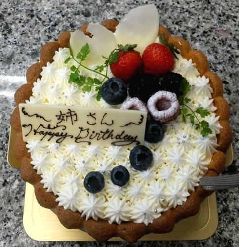 レアチーズ デコレーション4号(直径12cm)【誕生日 デコ バースデー ケーキ バースデーケーキ】の画像1枚目