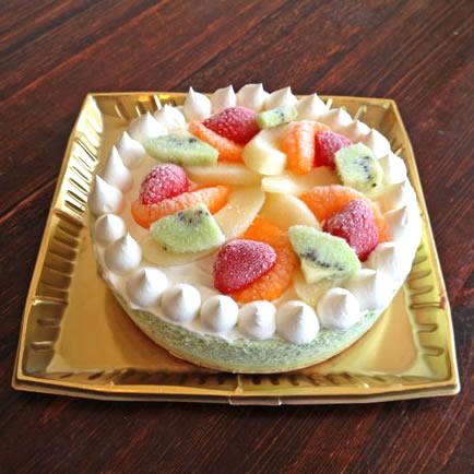 たっぷりフルーツの抹茶アイスケーキ(6号・直径18cmホール)の画像1枚目