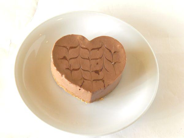 ハートのとろ生チョコムースケーキ(5号15cm)【誕生日 デコ バースデー ケーキ バースデーケーキ】の画像1枚目