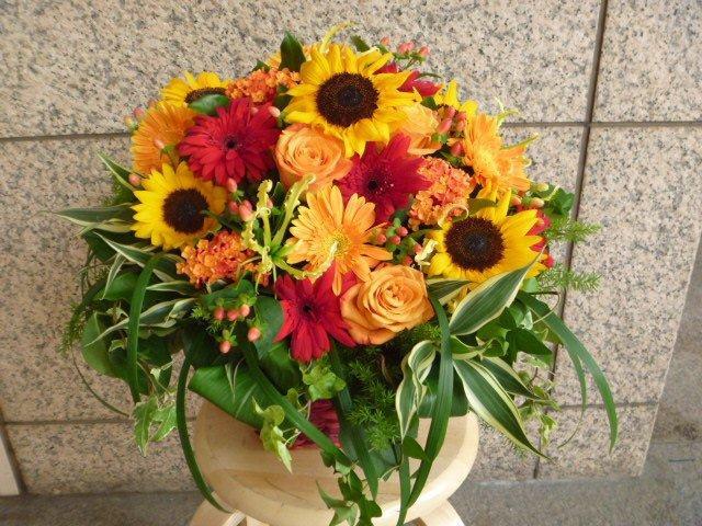 夏色ビビットカラーアレンジ【花 フラワー ギフト】
