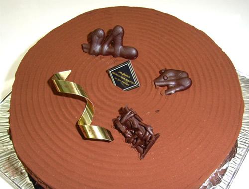 チョコデコレーション6号【デコ 誕生日 ケーキ バースデーケーキ】の画像1枚目