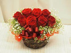 上質な赤バラ使用!上品で豪華なアレンジ0262【花 フラワーギフト フラワー】の画像1枚目
