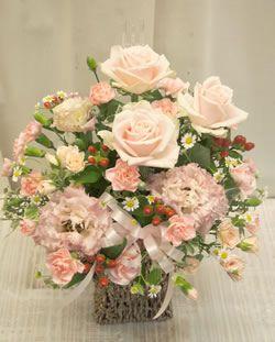 やわらかピンクのキュートなアレンジ0258【花 フラワーギフト フラワー】の画像1枚目