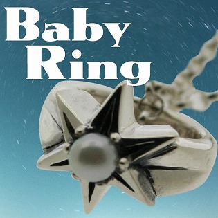 ベビーリング 刻印 指輪 出産祝い パール 真珠 6月 誕生石 星 STAR 七五三 ギフトの画像1枚目