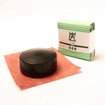 【炭せっけん】炭・木酢液と檜・オリーブ油配合の石鹸【化粧落とし・クレンジング】《100g》の画像1枚目