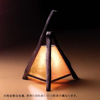 【備長炭行燈(あんどん)】紀州備長炭の手作りアートシリーズ【照明器具】《受注生産/納期約2週間》の画像1枚目