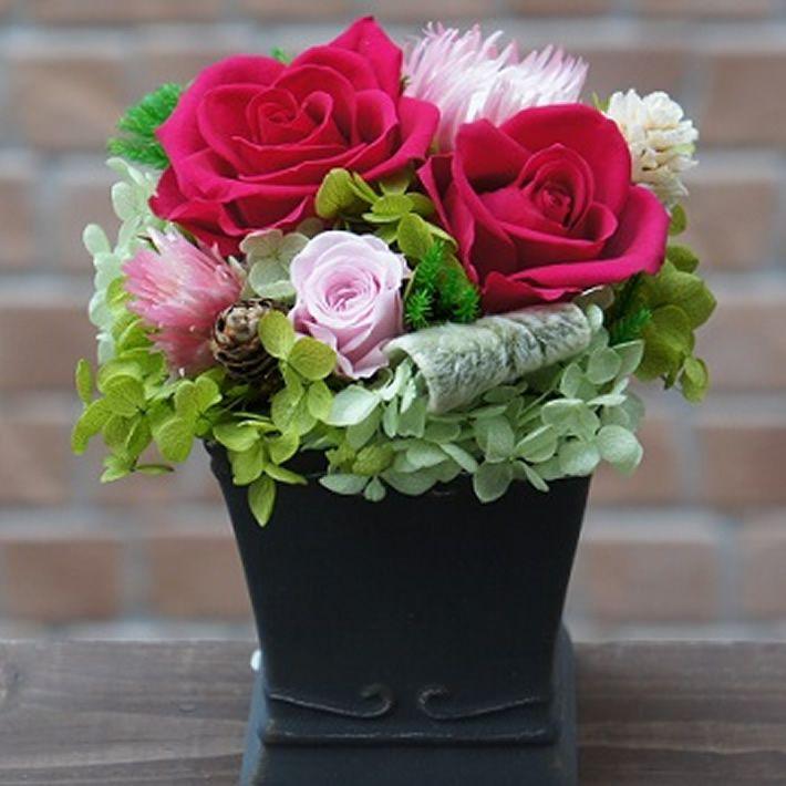 【ポイント10倍】プリザーブドフラワー『クラシカル』 贈り物 母の日に【花 フラワーギフト プリザーブド フラワー 誕生日】の画像1枚目