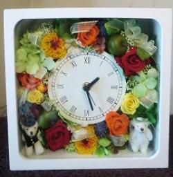 【プリザーブドフラワー】花時計28【結婚祝】の画像1枚目