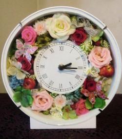 【プリザーブドフラワー】花時計29【結婚祝】の画像1枚目