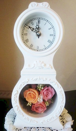 【プリザーブドフラワー・アートフラワー】モラ時計1【新築、開店・開業祝 結婚祝い】の画像1枚目