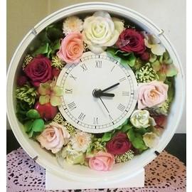 【プリザーブドフラワー】花時計36【新築、開店・開業祝 結婚祝い】の画像1枚目
