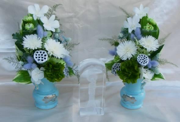 花器付仏花 香采ペアセット【ギフト】の画像1枚目