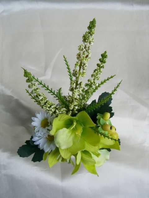 小さな仏花花器付 祈り アーティフィシャル【ギフト】の画像2枚目