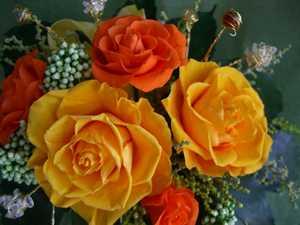 福禄寿パワーストーン付花風水シリーズ オレンジ色アレンジ【ギフト】の画像2枚目