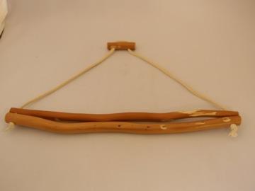 タオルハンガーワイド(ヒノキの枝)【誕生日 贈り物 プレゼント 木製 木工品 ハンドメイド 手作り】