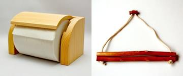 ヒノキの枝セット(トイレットペーパーホルダー&タオルハンガー枝タイプ)【誕生日 贈り物 プレゼント 木製 木工品 ハンドメイド 手作り セット 贈答】の画像1枚目