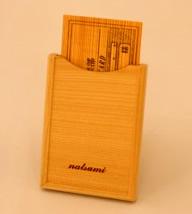 名刺入れ(ヒノキ)【誕生日 贈り物 プレゼント 木製 木工品 ハンドメイド 手作り】の画像1枚目