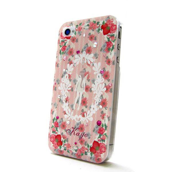 各種スマートフォン対応 名入れプリント スワロフスキースマホケース フェアリーピンク♪の画像1枚目