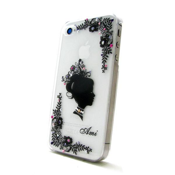 各種スマートフォン対応 スワロフスキースマホケース フラワープリンセス♪の画像1枚目