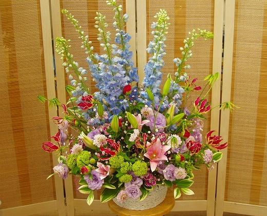 デルフィニウムのアレンジメント【花 フラワーギフト プレゼント】の画像1枚目