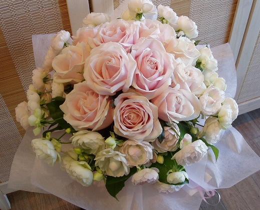 フレッシュピンク・ラウンドの花束【花 フラワーギフト プレゼント】の画像1枚目