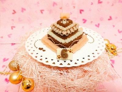 お豆腐の3段ケーキ【Sweety ショコラ】【犬用バースデーケーキ・犬用ケーキ・犬用おやつ・ペット用バースデーケーキ・ペット用ケーキ・ペット用おやつ】の画像3枚目