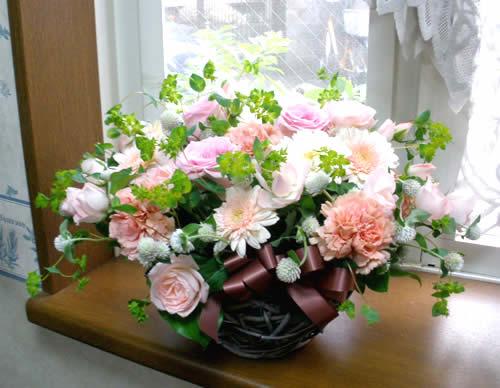 【ポイント10倍】アレンジ ピンクウェディング【花 フラワーギフト プレゼント アレンジメント フラワー】